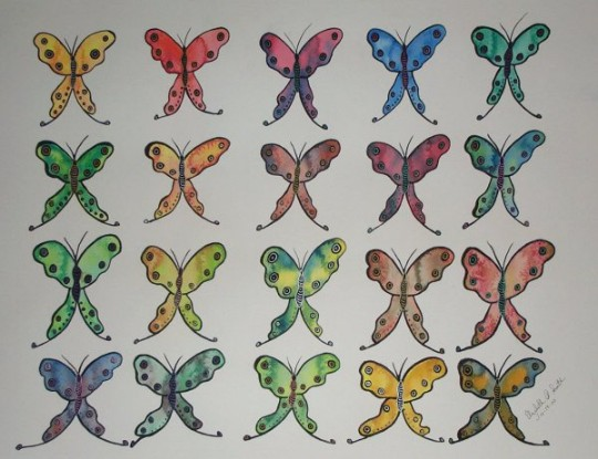 Psychedelic Butterflies by Elizabeth Smith