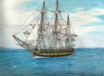 The Tall Ship by Judy Josey - click on the thumbnail to view the enlarged version