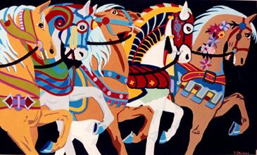 Carousel Horses #17 by Peter Shulman - click on the thumbnail to view the enlarged version