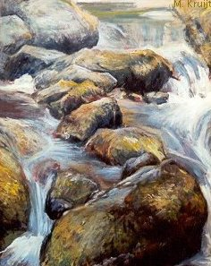 Stones in River by Marjolein Kruijt